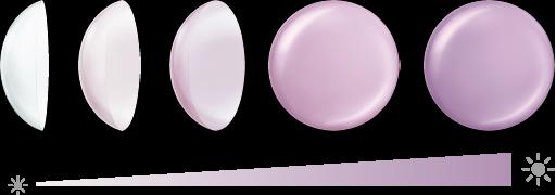 調光 色の変化 コンタクトレンズ
